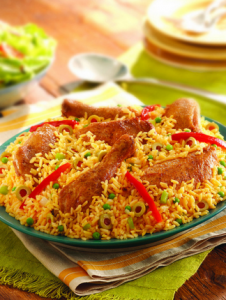 Rice with chicken on plate - Flickr - Photo Sharing!